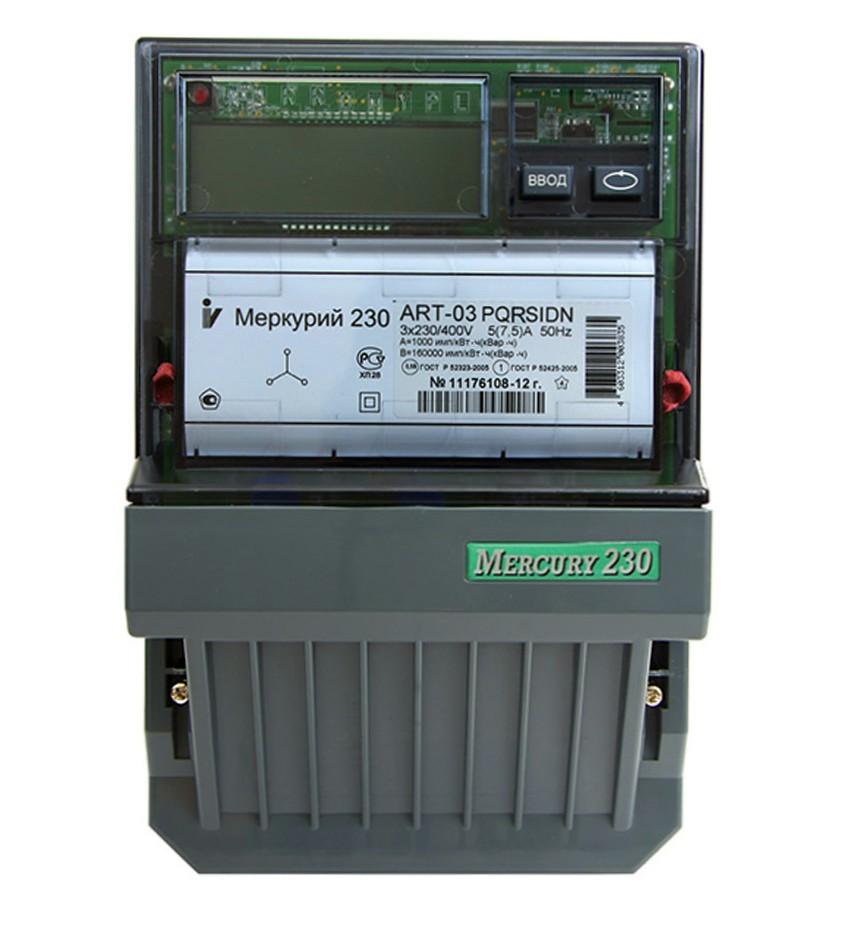 Счетчик электроэнергии Меркурий 230 ART-01 PQRSIN